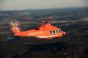 AW139 Air to Air over forest
